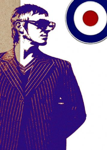 THE JAM - PAUL WELLER - MOD blue canvas print - self adhesive poster - photo print